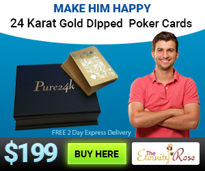24k gold dipped poker cards