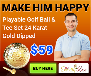 gold golf ball for retirement