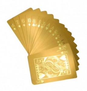 gold poker cards gift idea for retirement